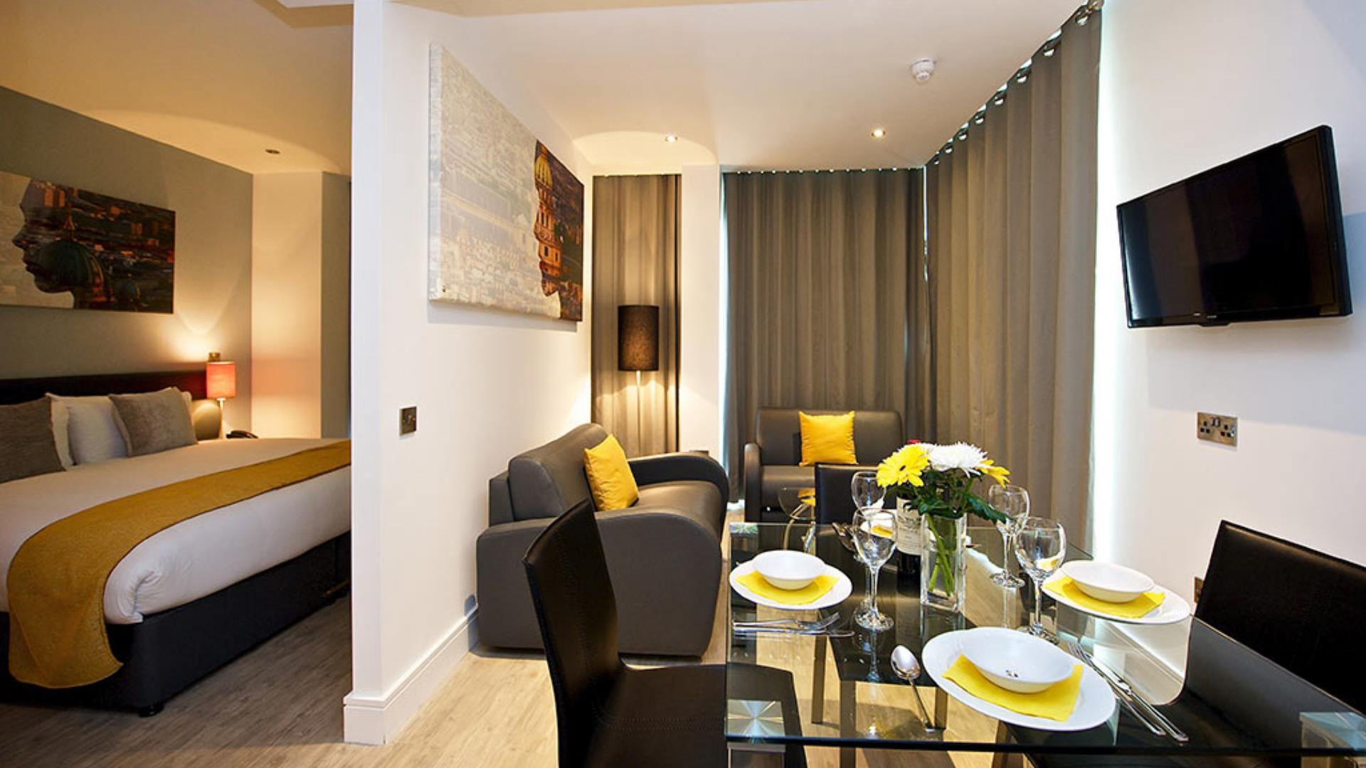 The stylish and modern self catering, serviced apartments at Staycity Aparthotels, Greenwich.
