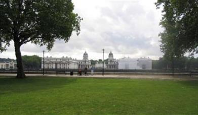 Image from Island Gardens overlooking the river Thames and Old Royal Naval College.