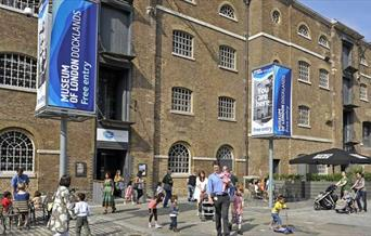 The entrance to the Museum of London Docklands.